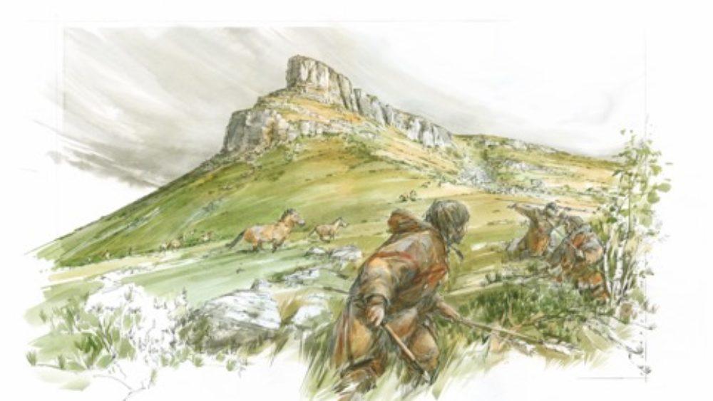 Fouille d'un site paléolithique à Solutré